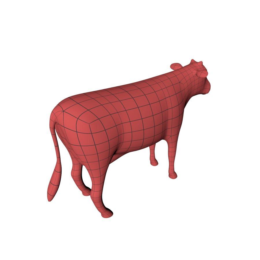 Cow base mesh royalty-free 3d model - Preview no. 6