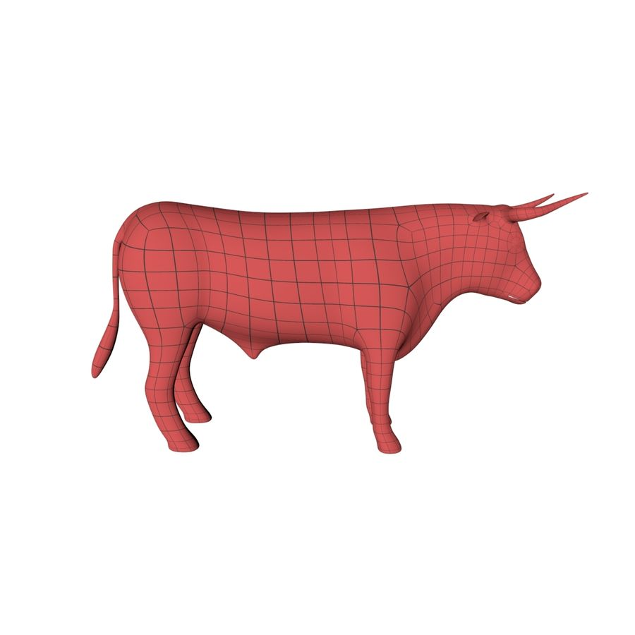 Bull base mesh royalty-free 3d model - Preview no. 1