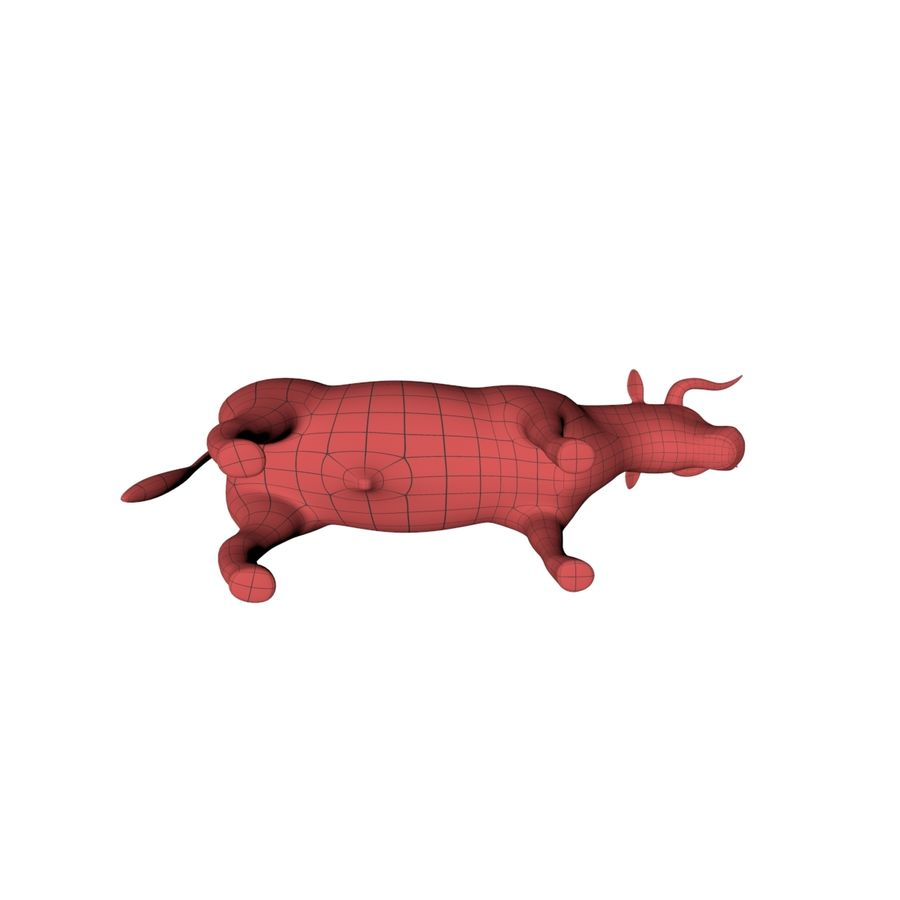Bull base mesh royalty-free 3d model - Preview no. 5