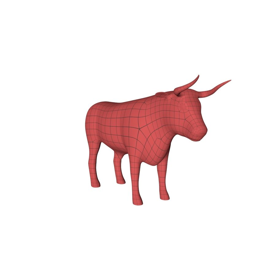 Bull base mesh royalty-free 3d model - Preview no. 2