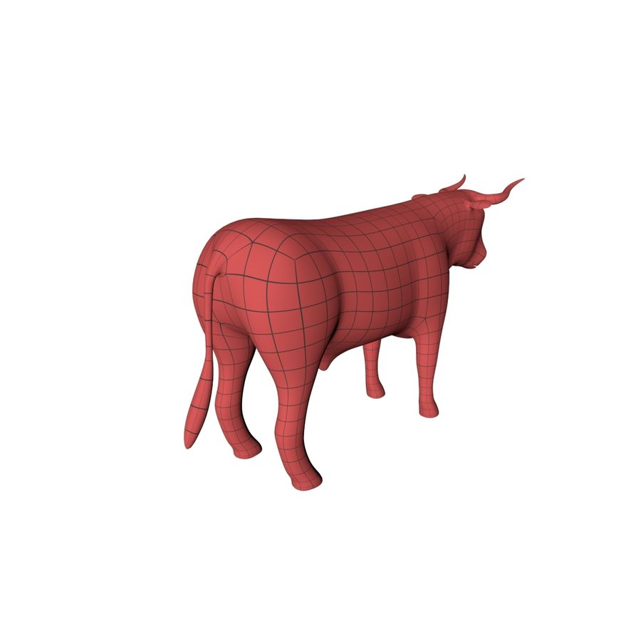 Bull base mesh royalty-free 3d model - Preview no. 6