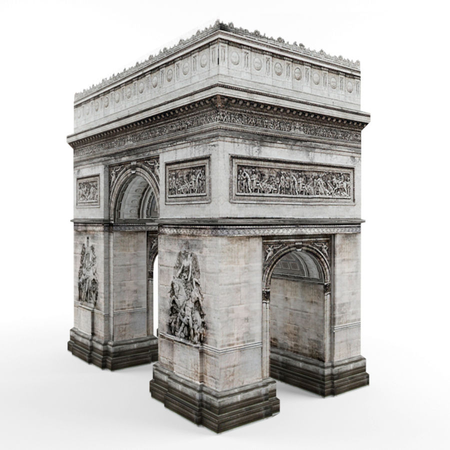 Triumphal arch royalty-free 3d model - Preview no. 2