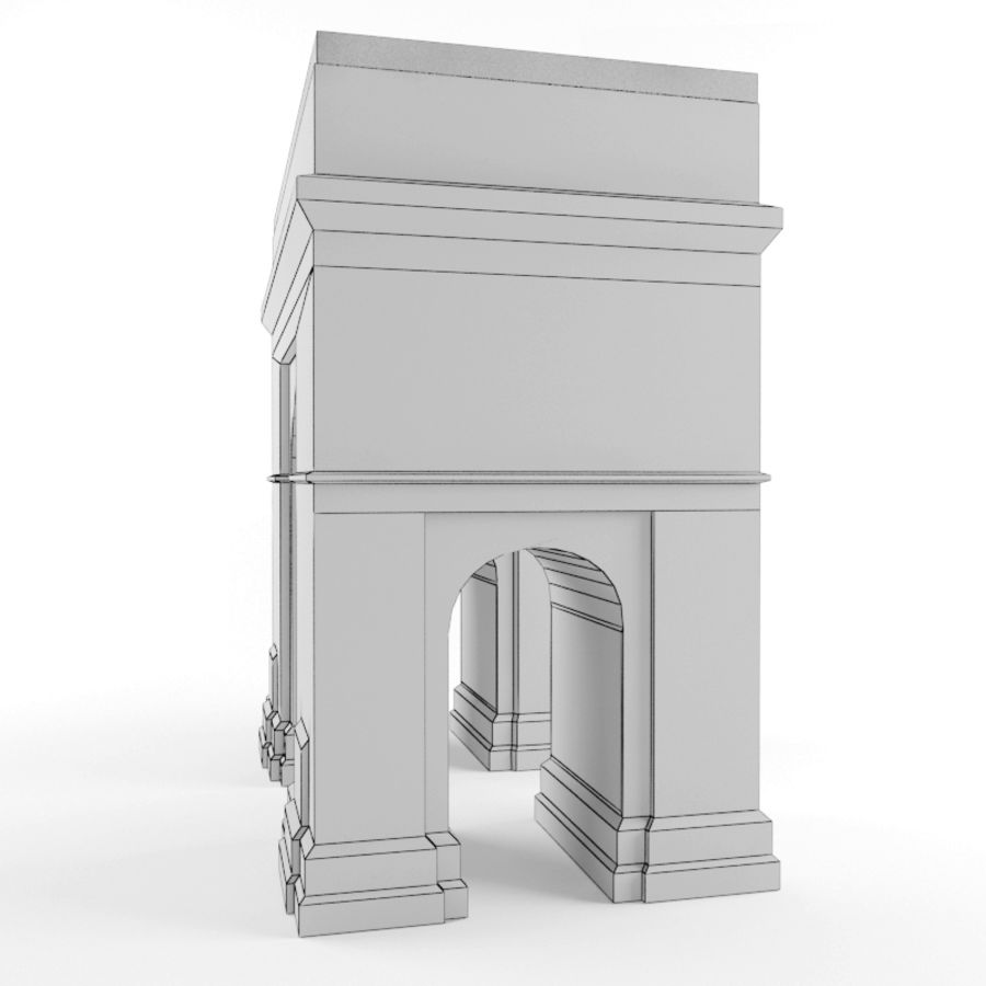Triumphal arch royalty-free 3d model - Preview no. 6