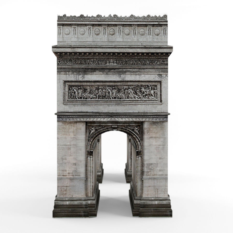 Triumphal arch royalty-free 3d model - Preview no. 3