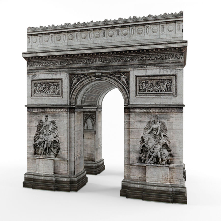 Triumphal arch royalty-free 3d model - Preview no. 1