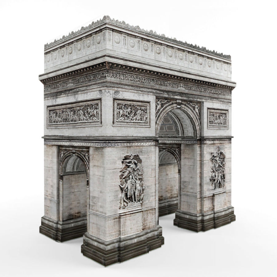 Triumphal arch royalty-free 3d model - Preview no. 4