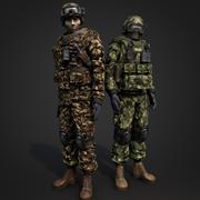 солдат 3d model