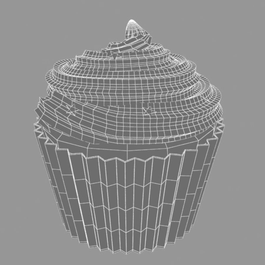 Cup Cake 02 royalty-free 3d model - Preview no. 5