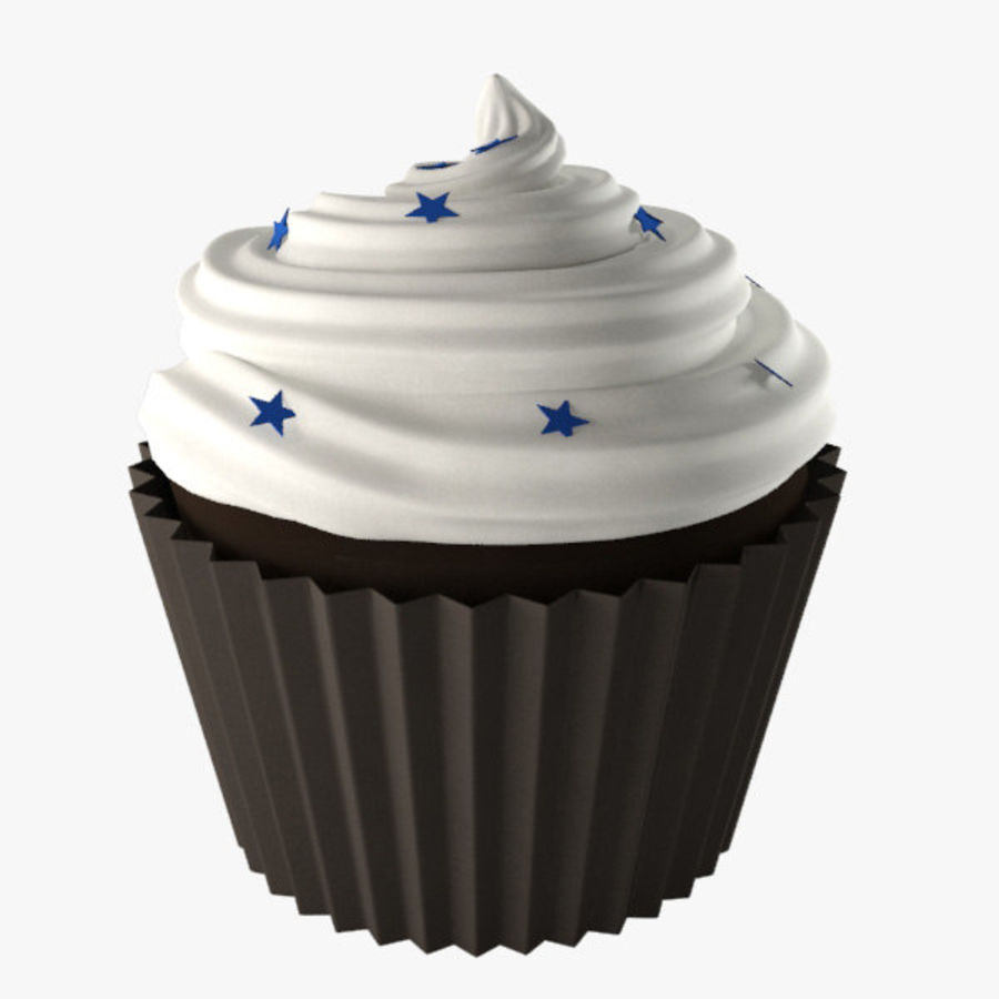Cup Cake 02 royalty-free 3d model - Preview no. 2
