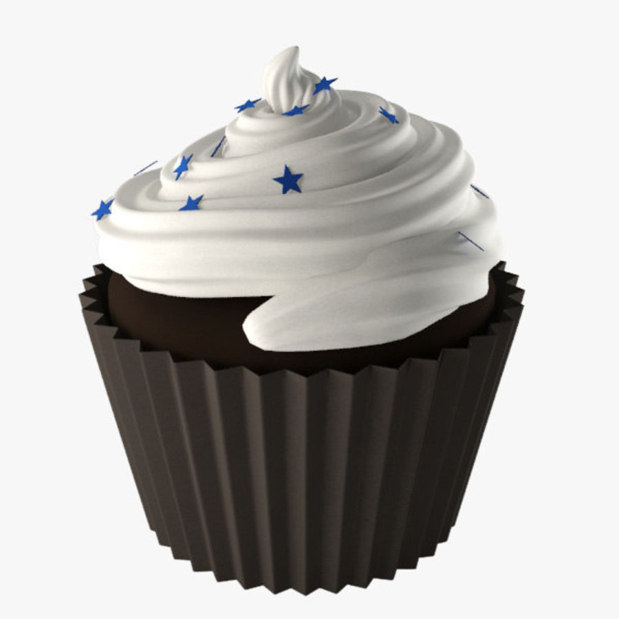 Cup Cake 02 royalty-free 3d model - Preview no. 3