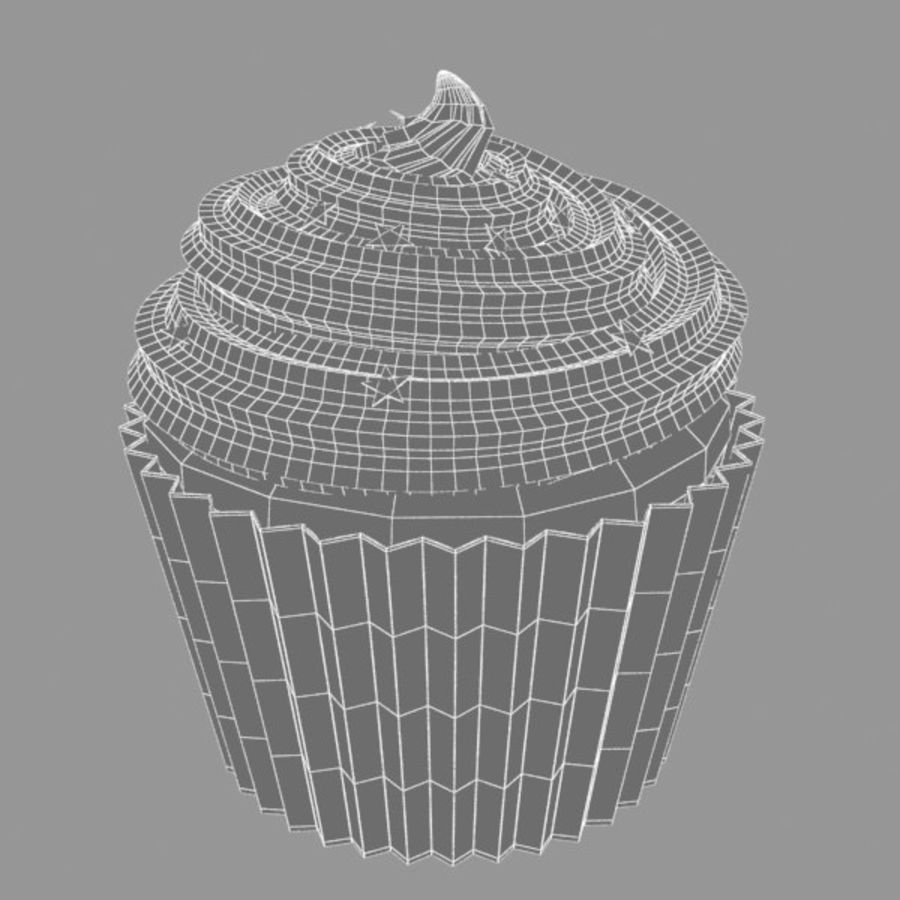 Cup Cake 02 royalty-free 3d model - Preview no. 4
