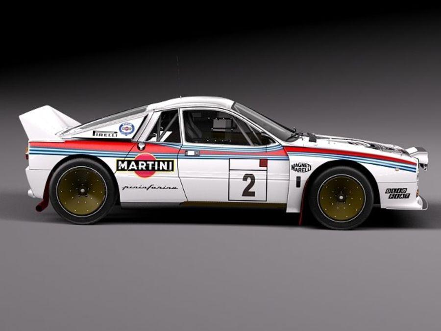 Lancia 037 1982-1983 royalty-free 3d model - Preview no. 7