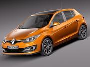 Renault Megane 5-deurs 2014 3d model