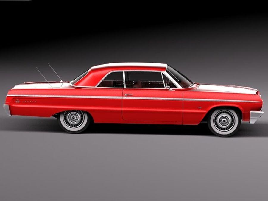 Шевроле Импала Купе 1964 royalty-free 3d model - Preview no. 7