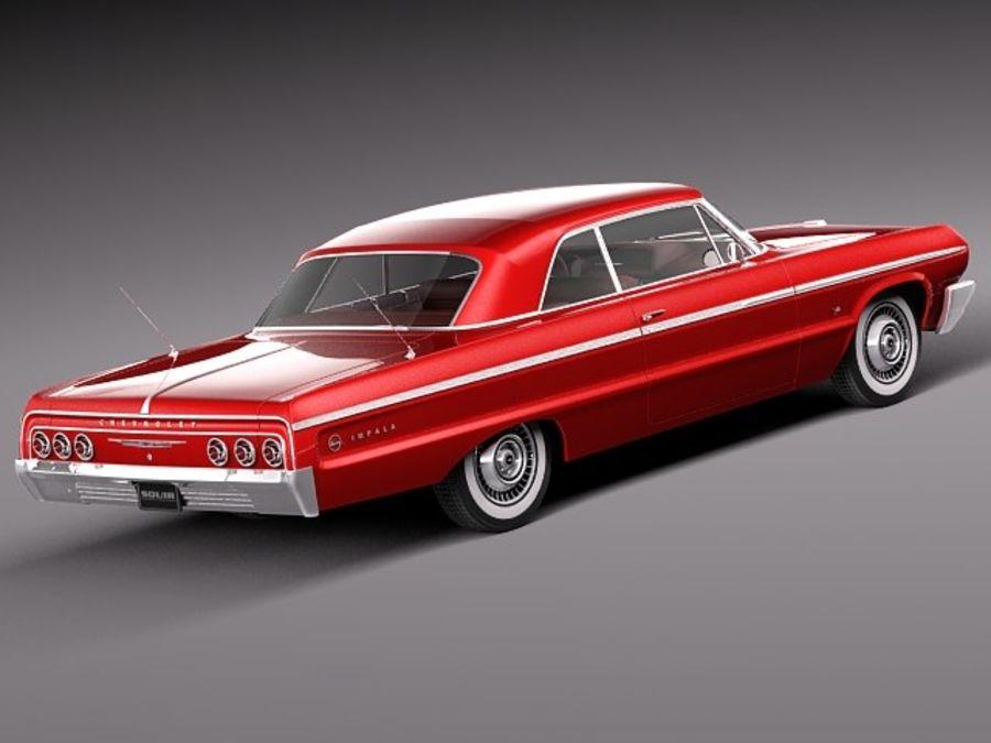 Шевроле Импала Купе 1964 royalty-free 3d model - Preview no. 5