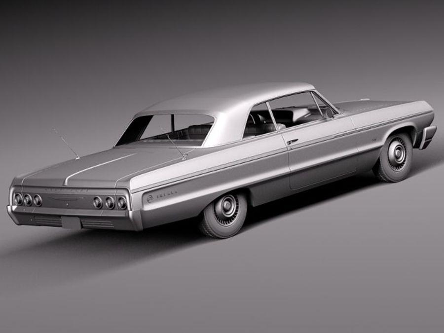 Шевроле Импала Купе 1964 royalty-free 3d model - Preview no. 14