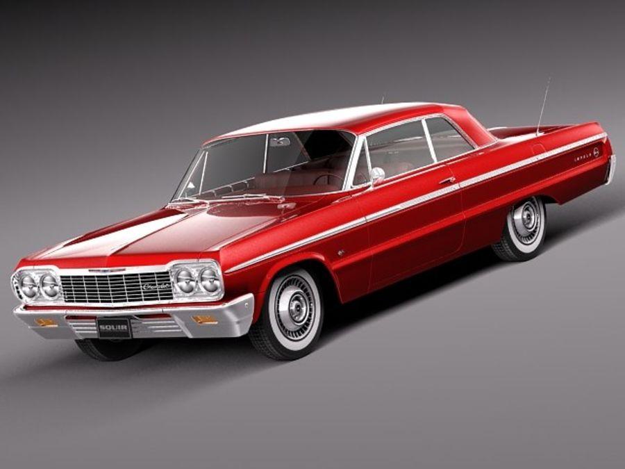 Шевроле Импала Купе 1964 royalty-free 3d model - Preview no. 1