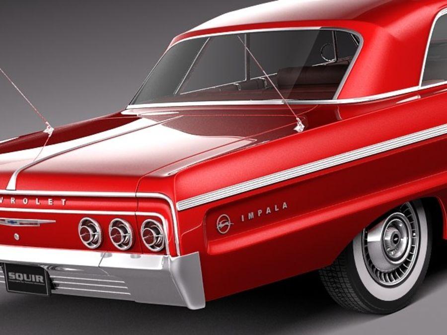 Шевроле Импала Купе 1964 royalty-free 3d model - Preview no. 4