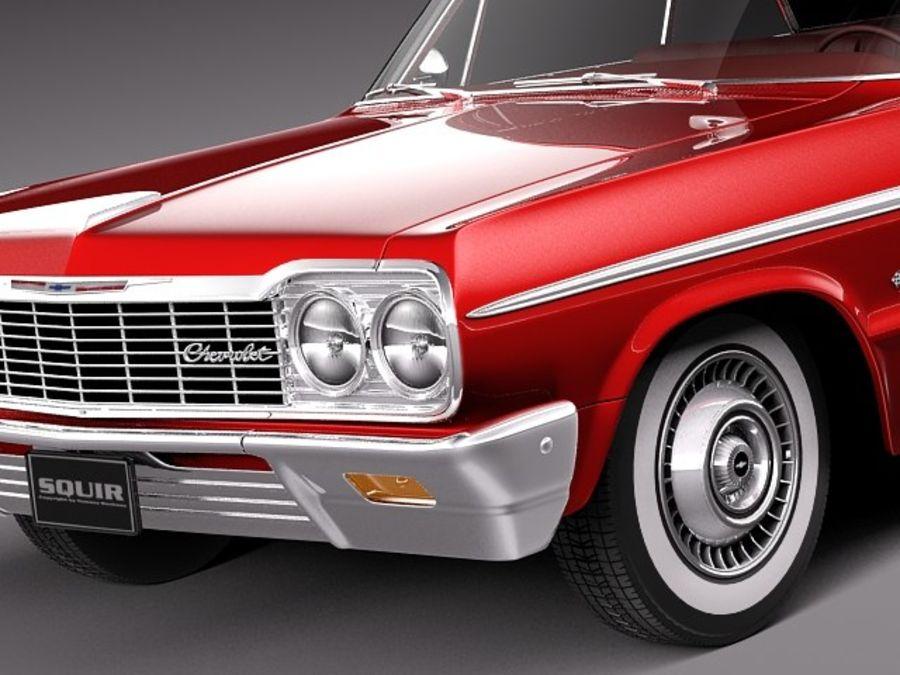 Шевроле Импала Купе 1964 royalty-free 3d model - Preview no. 3
