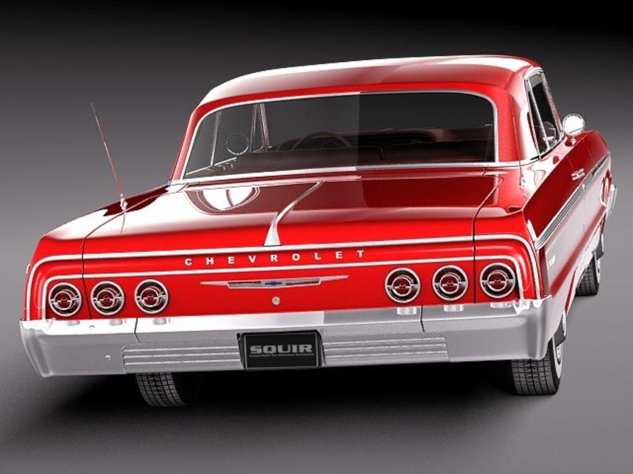 Шевроле Импала Купе 1964 royalty-free 3d model - Preview no. 6