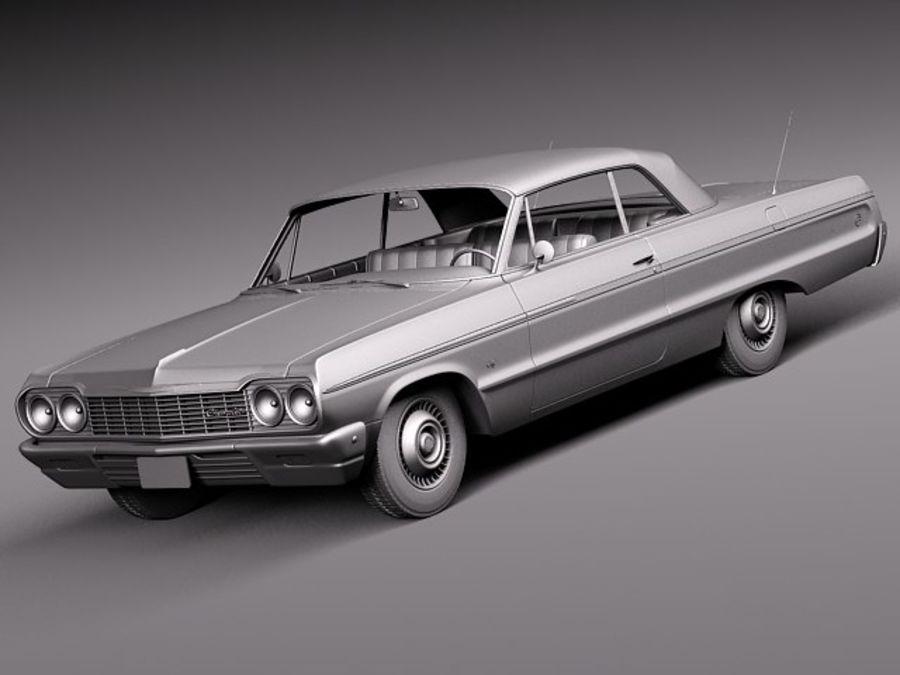 Шевроле Импала Купе 1964 royalty-free 3d model - Preview no. 11