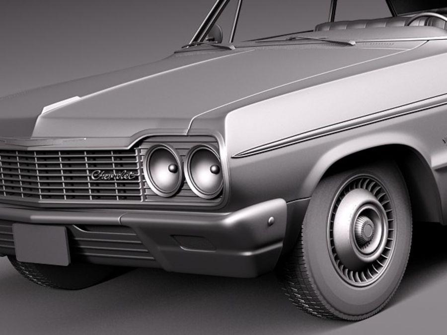 Шевроле Импала Купе 1964 royalty-free 3d model - Preview no. 12