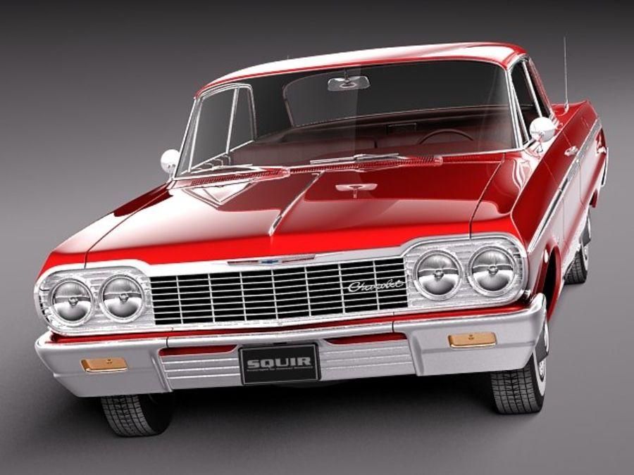 Шевроле Импала Купе 1964 royalty-free 3d model - Preview no. 2
