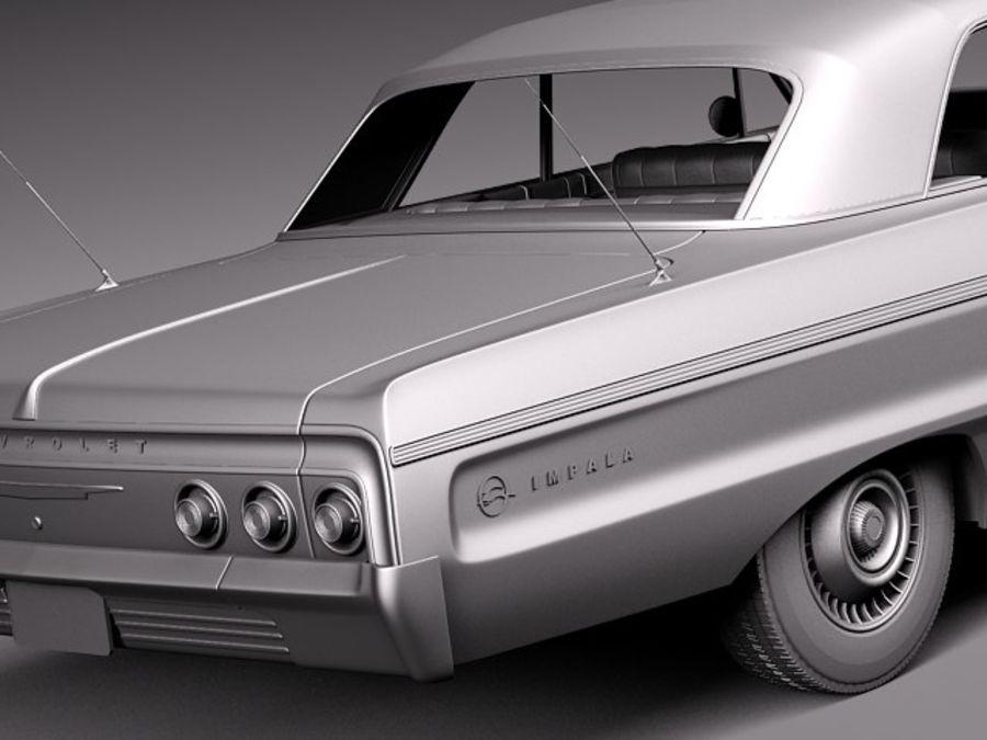 Шевроле Импала Купе 1964 royalty-free 3d model - Preview no. 13
