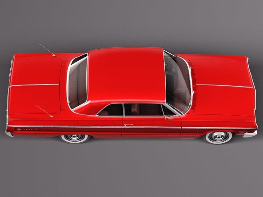 Шевроле Импала Купе 1964 royalty-free 3d model - Preview no. 8