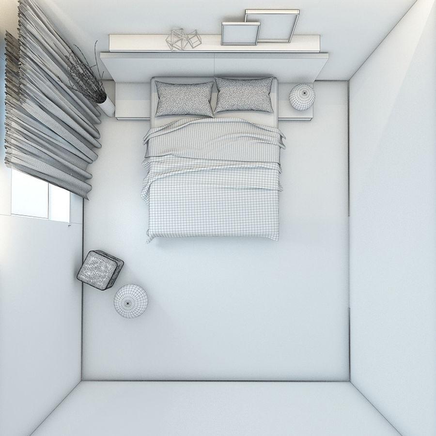 Yatak odası royalty-free 3d model - Preview no. 7