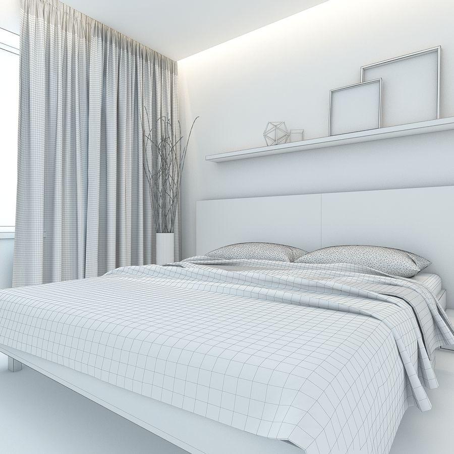 Yatak odası royalty-free 3d model - Preview no. 6