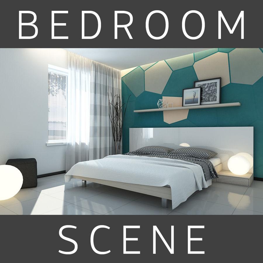 Yatak odası royalty-free 3d model - Preview no. 1