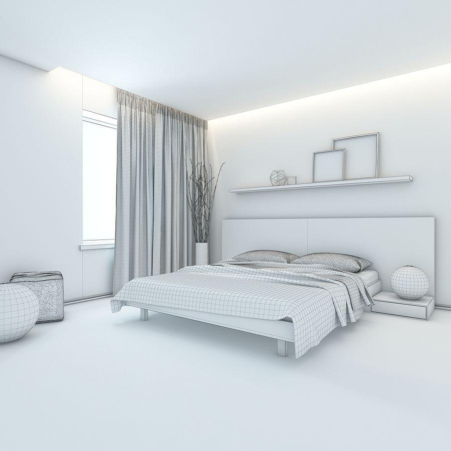 Yatak odası royalty-free 3d model - Preview no. 5