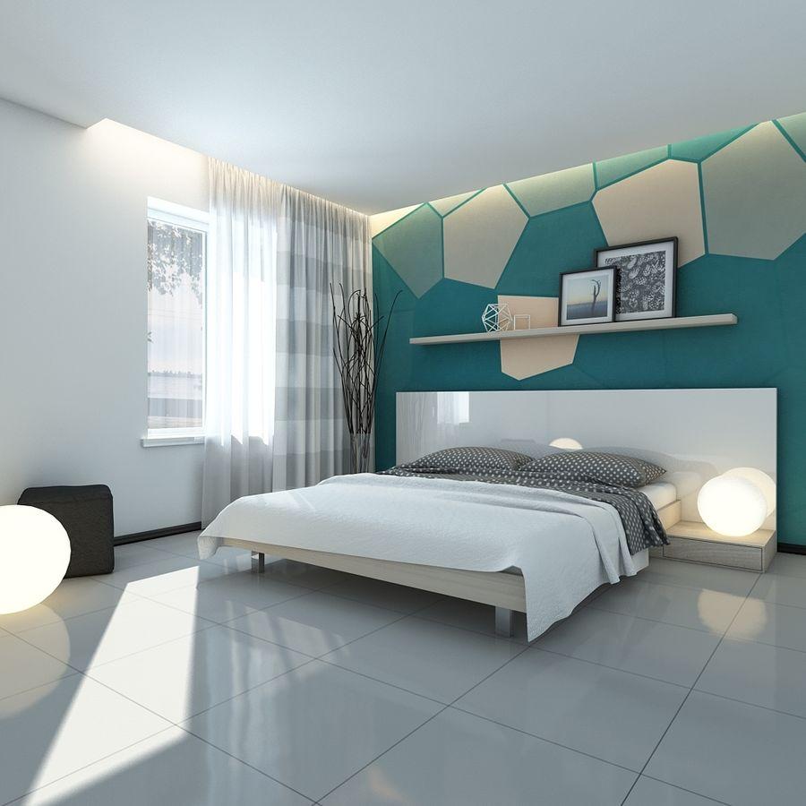 Yatak odası royalty-free 3d model - Preview no. 2