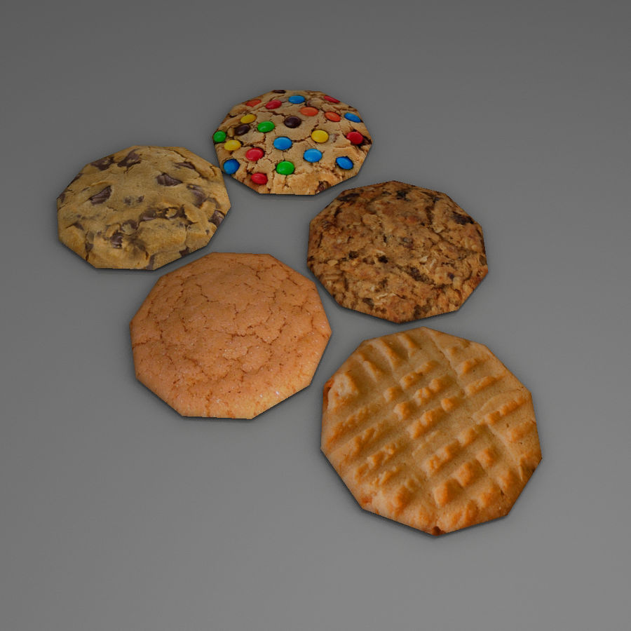 Biscuits royalty-free 3d model - Preview no. 4