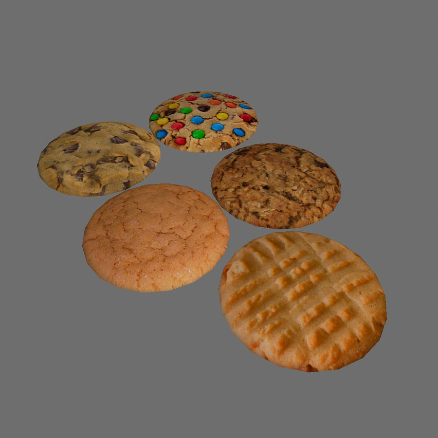 Biscuits royalty-free 3d model - Preview no. 1
