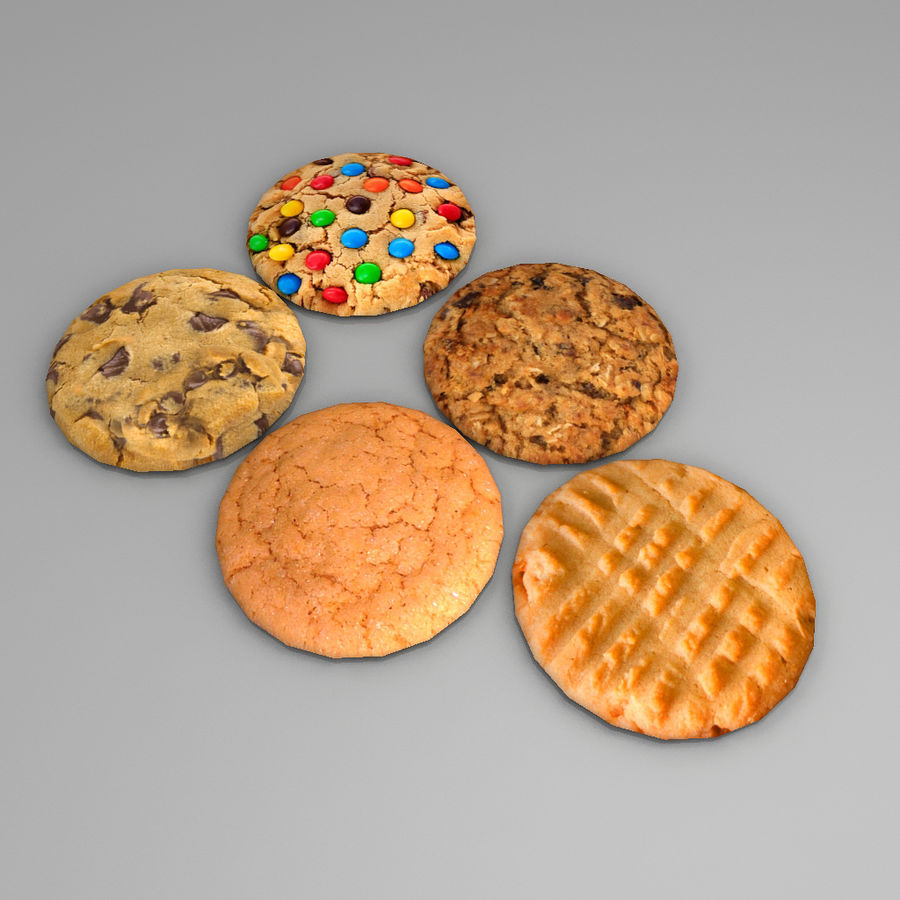 Biscuits royalty-free 3d model - Preview no. 2