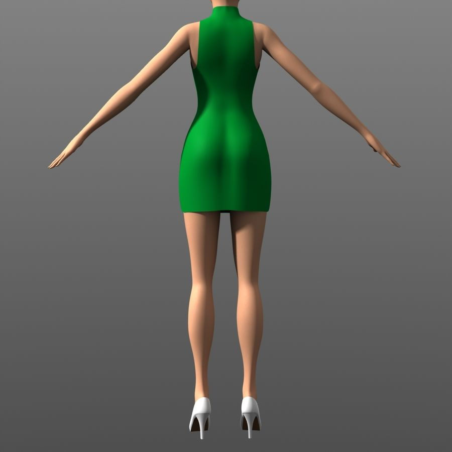 Clothing - Peekaboo Dress royalty-free 3d model - Preview no. 5
