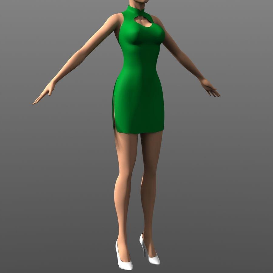 Clothing - Peekaboo Dress royalty-free 3d model - Preview no. 2