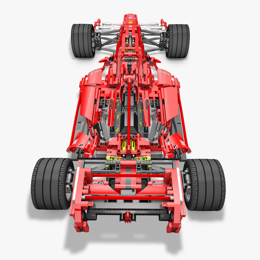 Lego8674 F1 Racers royalty-free 3d model - Preview no. 4