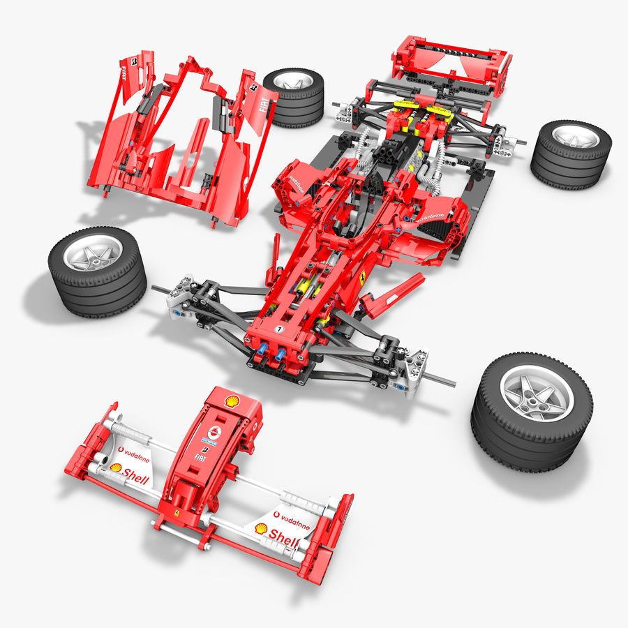 Lego8674 F1 Racers royalty-free 3d model - Preview no. 3