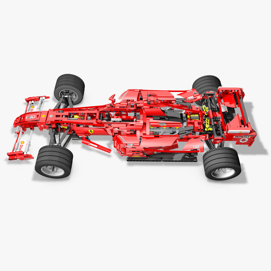 Lego8674 F1 Racers royalty-free 3d model - Preview no. 2