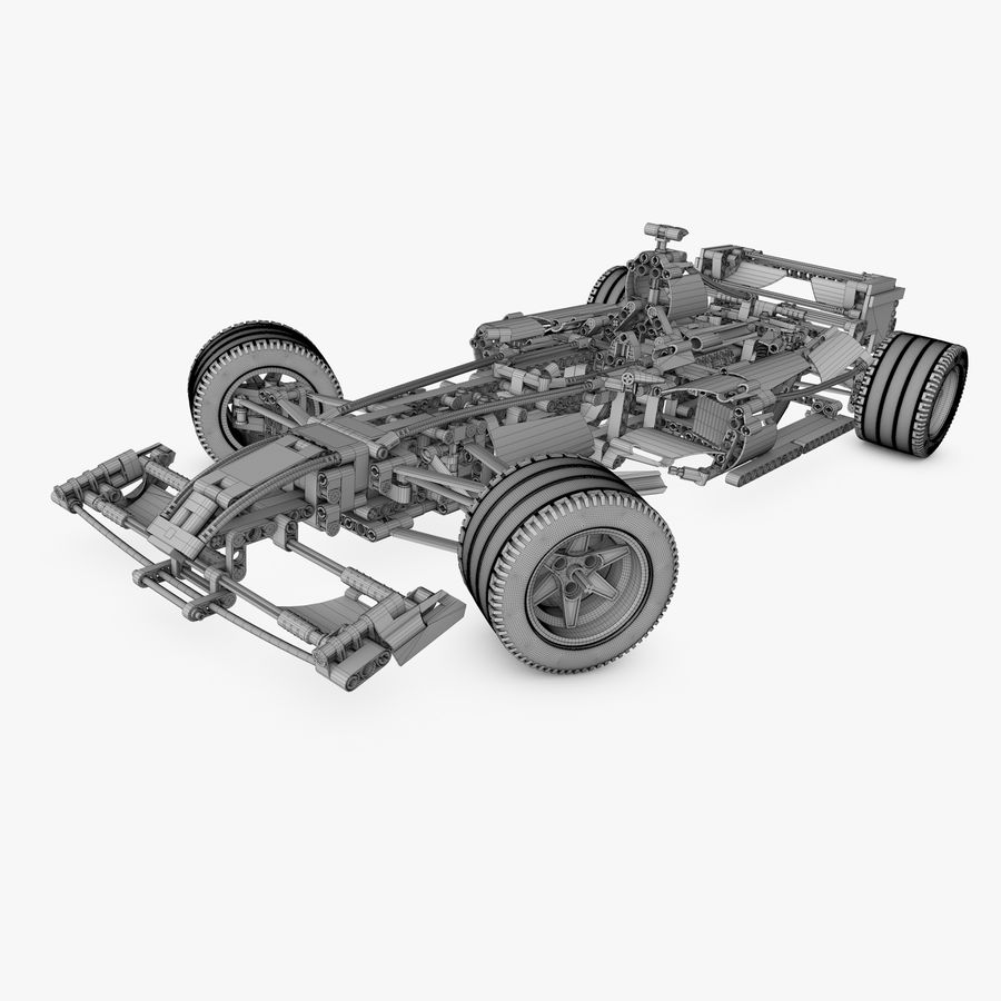 Lego8674 F1 Racers royalty-free 3d model - Preview no. 7