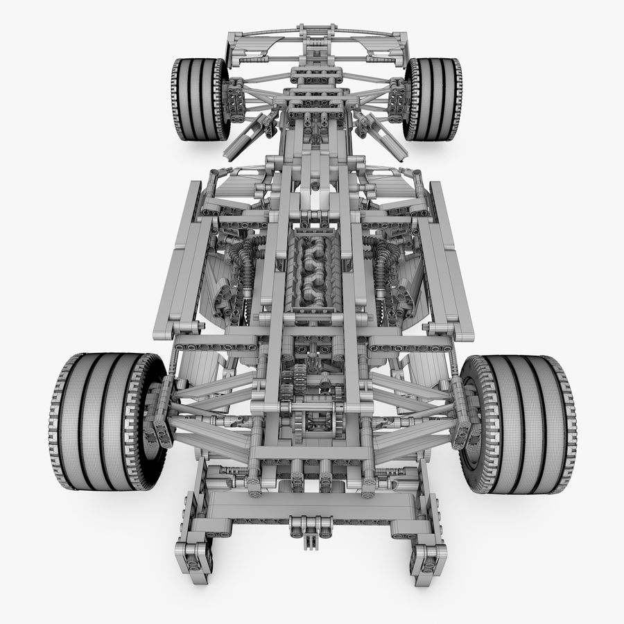 Lego8674 F1 Racers royalty-free 3d model - Preview no. 11