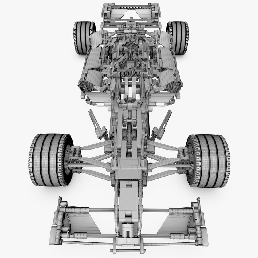 Lego8674 F1 Racers royalty-free 3d model - Preview no. 10