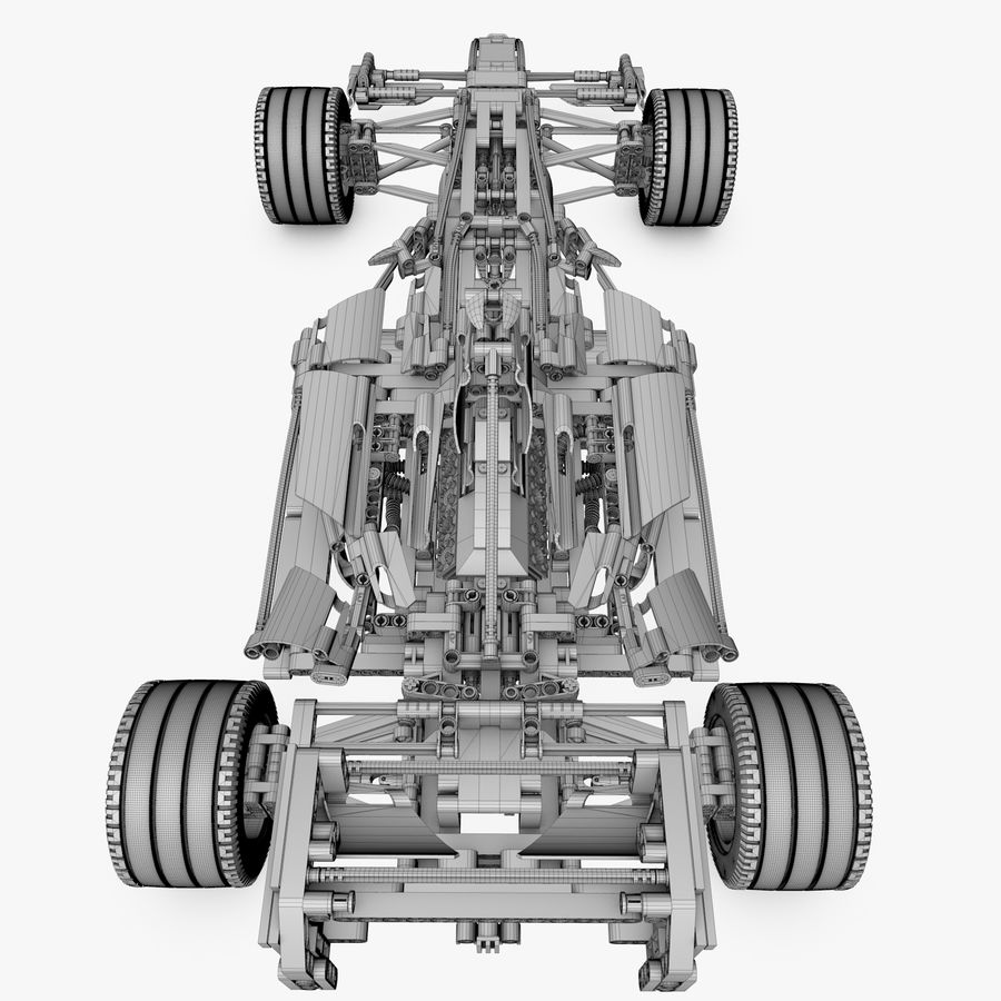 Lego8674 F1 Racers royalty-free 3d model - Preview no. 9