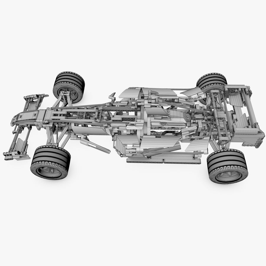 Lego8674 F1 Racers royalty-free 3d model - Preview no. 8