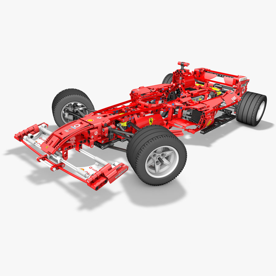 Lego8674 F1 Racers royalty-free 3d model - Preview no. 1