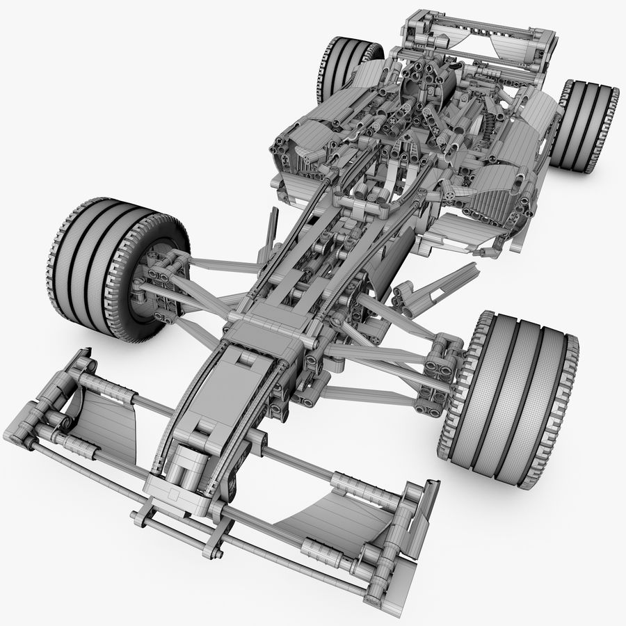 Lego8674 F1 Racers royalty-free 3d model - Preview no. 14