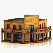 Cartoon Western Building 10 3d model
